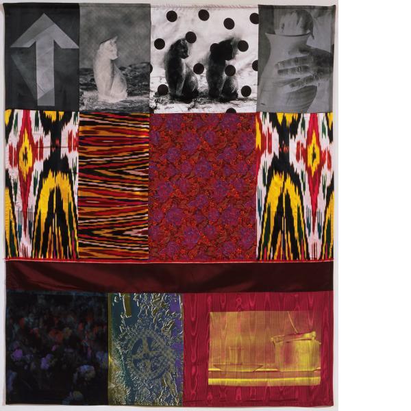 Robert Rauschenberg, Samarkand Stitches V, 1988