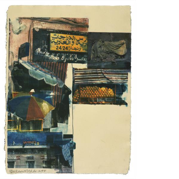 Robert Rauschenberg, Flaps (Marrakitch), 2000