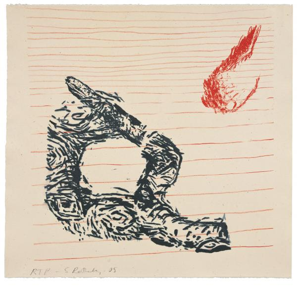 Susan Rothenberg, Snake with Foot, 2008
