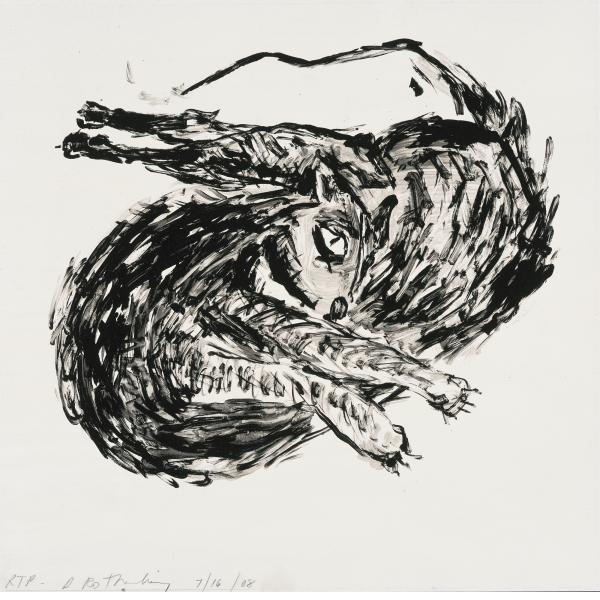 Susan Rothenberg, Twisted Cat, 2008