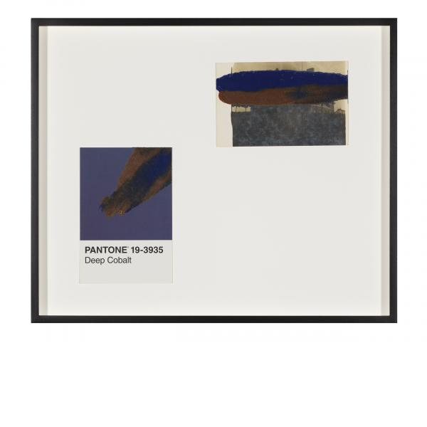 Tacita Dean, Pantone Pair (Deep Cobalt), 2019