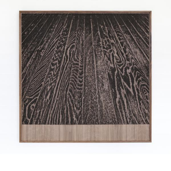 Analia Saban, Wooden Floor On Wood (One-Point Perspective), 2017