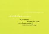 Celmins Murray Rockburne Rothenberg 1998 Announcement Card