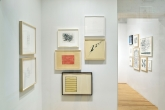 Frank Gehry, Vuitton/Korea, 2016; House Study Detail C, 2016; Julie Mehretu, Untitled 1 (Amulets), 2016; Bruce Nauman, O, 2012; Susan Rothenberg, K, 2004; Ed Ruscha, We the People, 2012; Ann Hamilton, script , 2008.