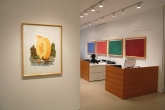 Left to right: Claes Oldenburg, Letter Q as a Beach House, with Sailboat, 1972; Dan Flavin, (To Don Judd, Colorist) 1-7, 1987
