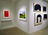 Left to Right: James Rosenquist – Amusement Stops, 1982; Ken Price – Lizard Cup, 1971; Richard Serra – Paths & Edges #4, 2007; Jump Start, 1996; Paths & Edges #9, 2007; Paths & Edges #7, 2007