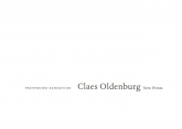 Claes Oldenburg 1997 Announcement Card