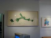 From Left to Right: Susan Rothenberg, Jim's Splat 2003, Elizabeth Murray, Radish 2001