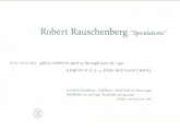 Robert Rauschenberg Speculations 1997