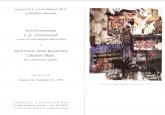 Rauschenberg Pottorf 1998 Announement Card