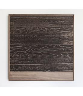 Analia Saban, Wooden Floor On Wood (Horizontal), 2017