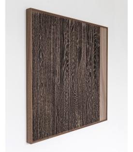 Analia Saban, Wooden Floor on Wood (Vertical)