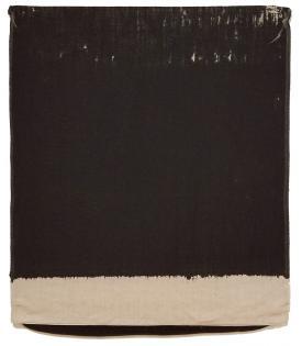 Analia Saban, Pressed Paint (Mars Black), 2017