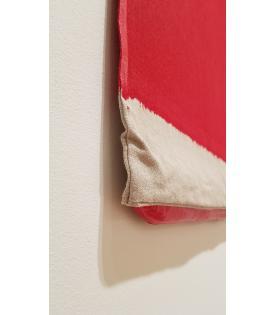 Analia Saban, Pressed Paint (Cadmium Red), 2017
