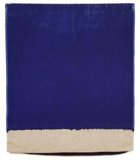 Analia Saban, Pressed Paint (Ultramarine Blue), 2017