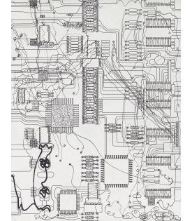 Analia Saban, Circuit Board #1, 2021