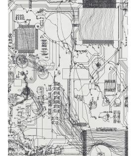 Analia Saban, Circuit Board #4, 2021