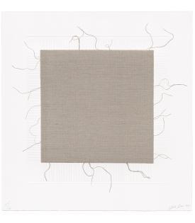 Analia Saban, Transcending Grid, White (with Fringes), 2021