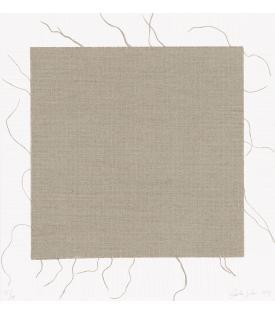 Analia Saban, Transcending Grid (White), 2021