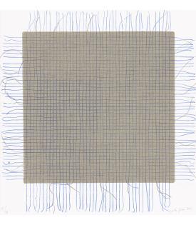 Analia Saban, Transcending Grid (Blue), 2021