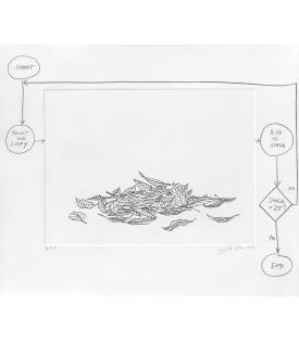 Analia Saban, Flowchart (Leaves), 2020