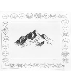 Analia Saban, Flowchart (Mountain), 2020