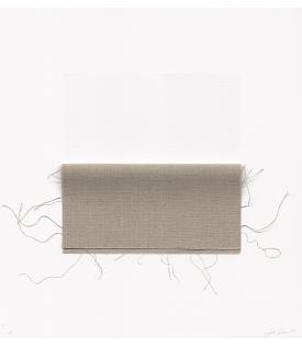 Analia Saban, Pressed Linen Canvas (Square), 2021