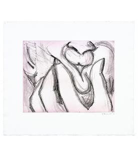 Bruce Nauman, Soft Ground Etching - Lavender, 2007