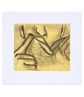 Bruce Nauman, Soft Ground Etching - Yellow, 2007