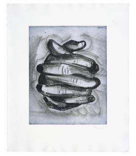 Bruce Nauman, Soft Ground Etching - Blue, 2007