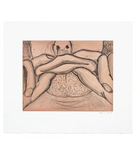 Bruce Nauman, Soft Ground Etching - Coral, 2007