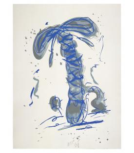 Claes Oldenburg, Sneaker Lace in Landscape - Blue, 1991