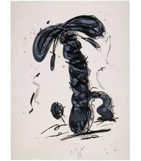 Claes Oldenburg, Sneaker Lace in Landscape - Gray, 1991