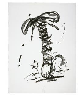 Claes Oldenburg, Sneaker Lace in Landscape - Line State, 1991