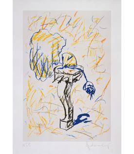 Claes Oldenburg, Perfume Atomizer on a Chair Leg (line version), 1997