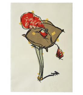 Claes Oldenburg, Perfume Atomizer, on a Pillow on a Chair Leg, 1997