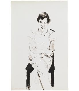 David Hockney, Gregory Thinking of Henry, 1977