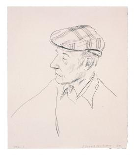 David Hockney, William Burroughs, 1981