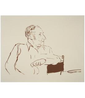 David Hockney, Bill Burroughs, 1980, 1995