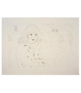 David Hockney, Ann in the Studio, 1984