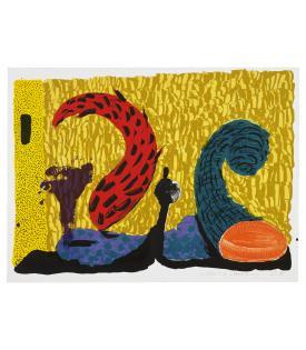 David Hockney, Pushing Up, 1994