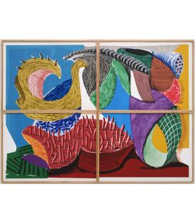 David Hockney, Four Part Splinge, 1993