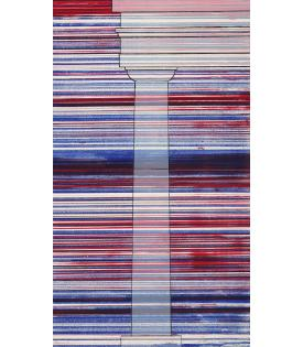 Ed Ruscha, Column with Speed Lines, 2003