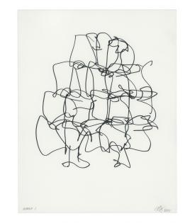 Frank Gehry, Puzzled #5 (Black State), 2012