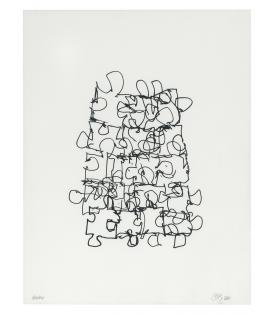 Frank Gehry, Puzzled #6 (Black State), 2012