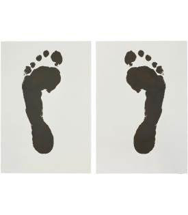 Jonathan Borofsky, Foot Print (Left) and Foot Print (Right), 1986