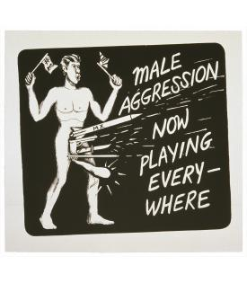 Jonathan Borofsky, Male Aggression, 1986