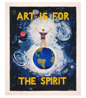 Jonathan Borofsky, Art Is For The Spirit At No.__**, 1989