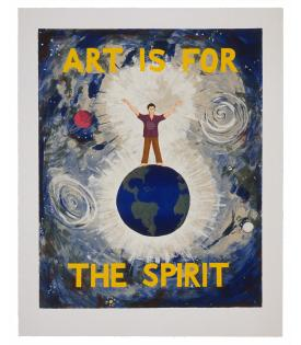 Jonathan Borofsky, Art is for the Spirit (State), 1989