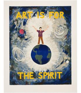 Jonathan Borofsky, Art is for the Spirit, 1989